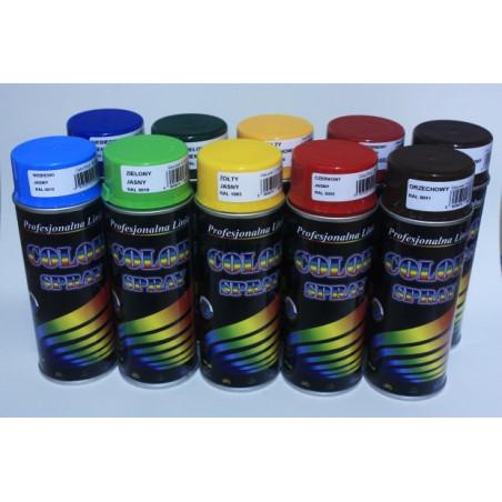 Zestaw: Lakier uniwersalny SPRAY - róźne kolory - 400ml - 10szt