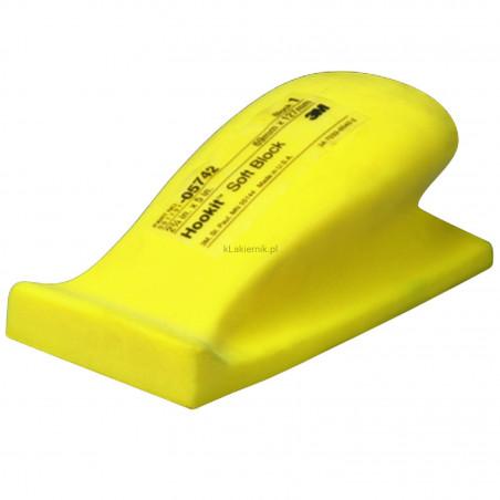 Blok ręczny miękki 3M 05742 70 x 127 mm do arkuszy ściernych na