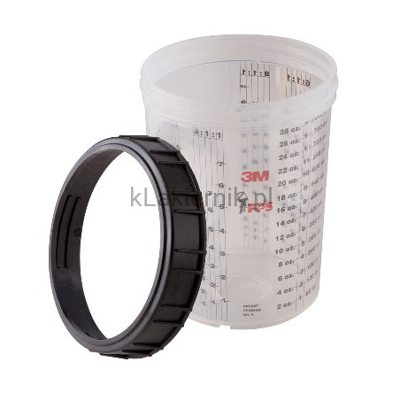 Kubek PPS 3M 16023 zewnętrzny/twardy, pierścień zamykający -