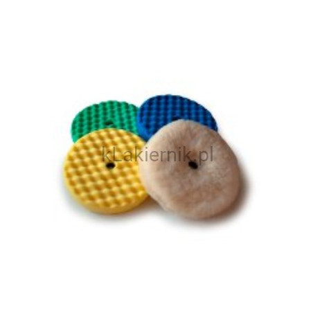 Dwustronna gąbka polerska 3M karbowana zielona, żółta