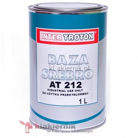 Lakier bazowy samochodowy TROTON srebro AT 212 - 1 L