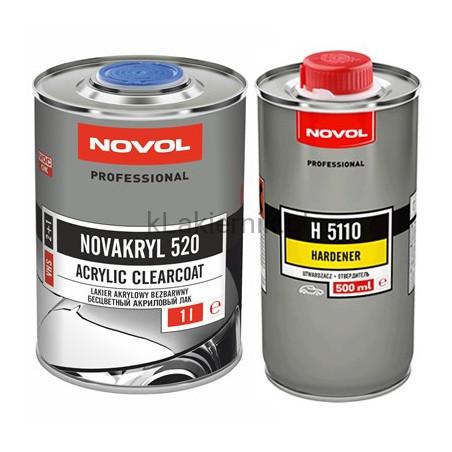Lakier bezbarwny NOVOL NOVAKRYL 520 - kpl. (1+0,5) L
