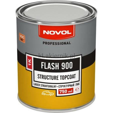 Lakier strukturalny do plastiku NOVOL 1K FLASH 900 - 750 ml