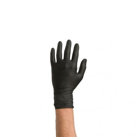 Jednorazowe rękawiczki nitrylowe Czarne COLAD - 1para