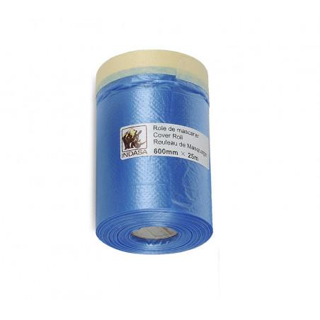 Folia maskująca z taśmą lakierniczą Cover Roll - INDASA 600mm x