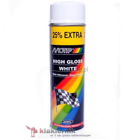 Lakier samochodowy w sprayu MOTIP biały połysk 500 ml