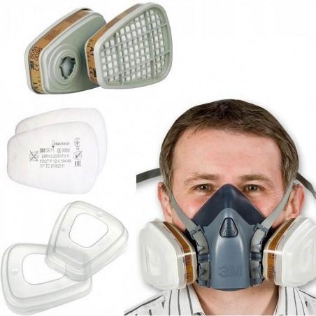 Maska lakiernicza 3M 7502 serii 7500 - komplet wraz z filtrami