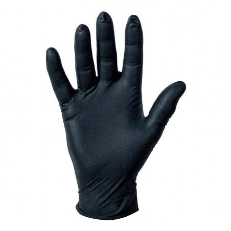 Rękawice nitrylowe czarne Farecla