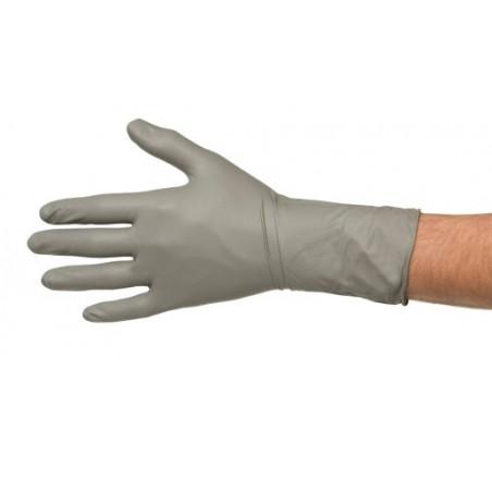 Jednorazowe rękawiczki nitrylowe szare COLAD - 1para