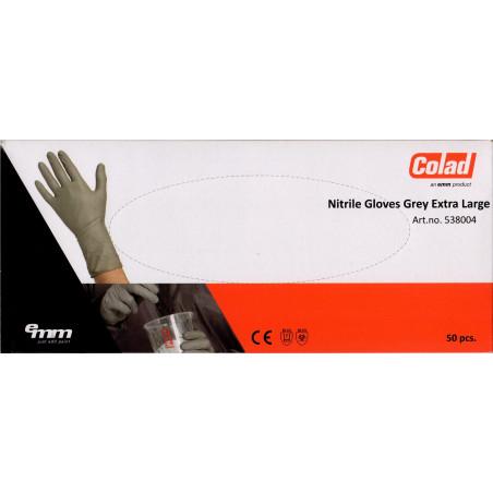 Jednorazowe rękawiczki nitrylowe szare