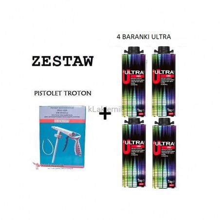 Zestaw TROTON: Pistolet do konserwacji + Baranek Ultra - 1 L x 4