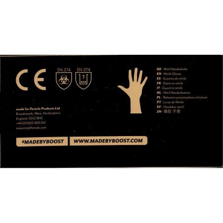 Rękawice nitrylowe czarne Farecla - 100szt