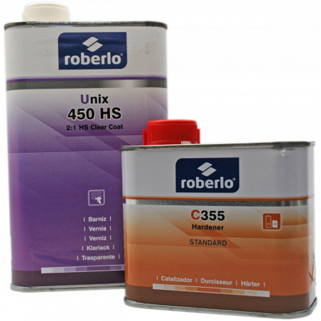 Lakier bezbarwny Roberlo 450 HS - kpl. (1+0,5) L