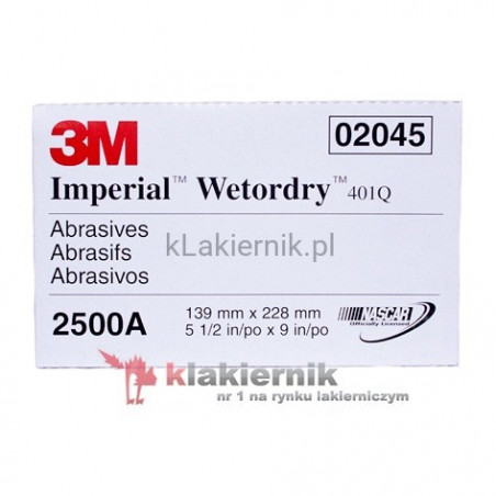 Papier ścierny 3M 20445 - Wetordry 401Q - P2500