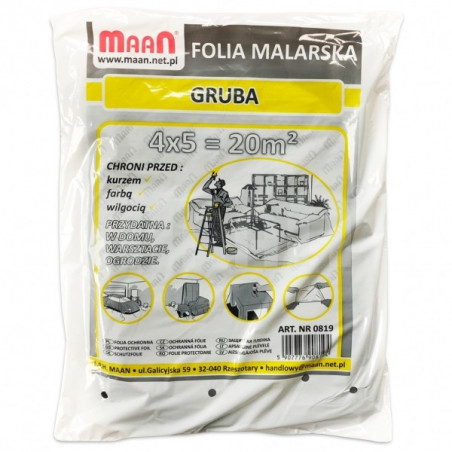 Folia ochronna MAAN - gruba 0,018 mm - 20 m2