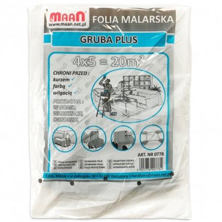 Folia ochronna MAAN - gruba plus 0,025 mm - 20 m2