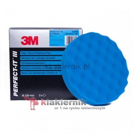 Gąbka polerska 3M 50388 niebieska do Ultrafina - 150 mm