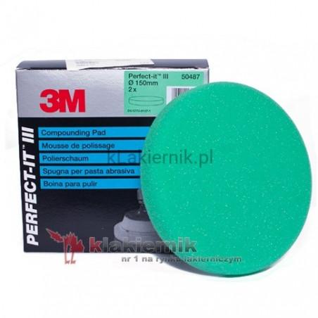 Gąbka polerska 3M 50487 zielona do Fast Cut - 150 mm