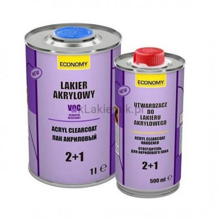 Lakier akrylowy bezbarwny NOVOL ECONOMY - kpl. (1+0,5) L