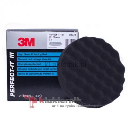 Gąbka polerska 3M 9378 czarna 150 mm