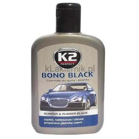 Czernidło K2 do gumy i plastiku - BONO BLACK - 200 ml