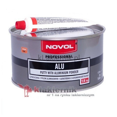 Szpachlówka z pyłem aluminiowym NOVOL ALU - 1,8 kg