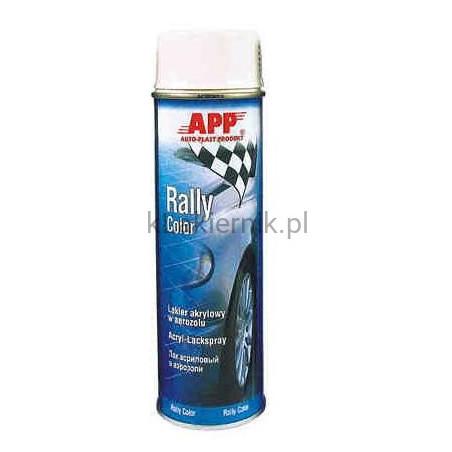 Lakier akrylowy samochodowy w sprayu APP 210101 biały połysk