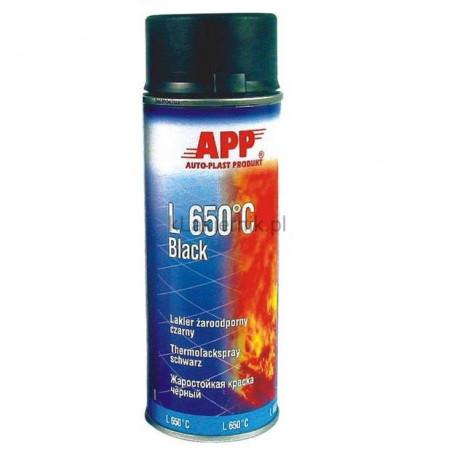 Lakier żaroodporny APP 210431 czarny spray 400 ml