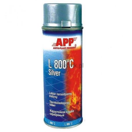 Lakier żaroodporny APP 210433 L 800 C srebrny spray 400 ml
