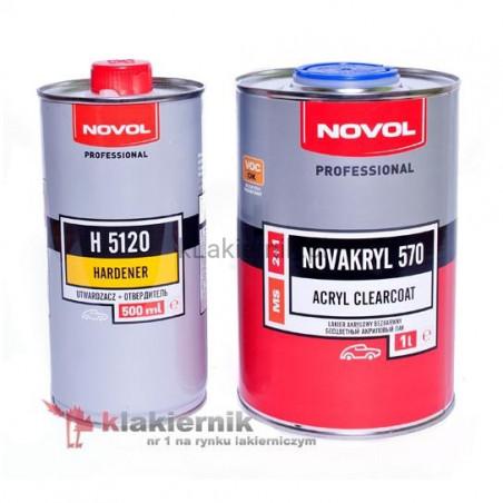 Lakier bezbarwny NOVOL NOVAKRYL 570 - kpl. (1+0,5) L