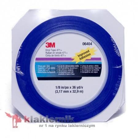 Taśma maskująca cienkoliniowa 3M PN06409 - Vinyl Tape 471+ - 19