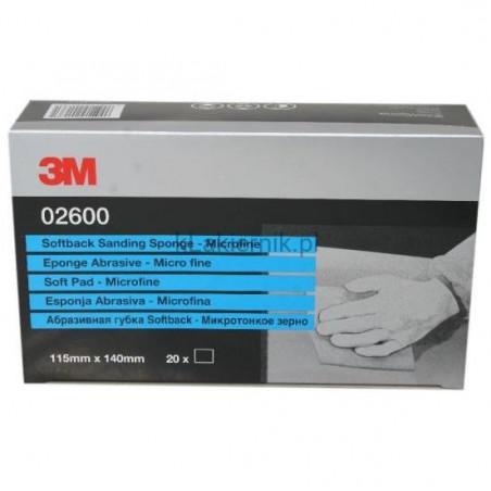 Środek ścierny 3M 02600 na piance - Microfine - 115 x 140 mm