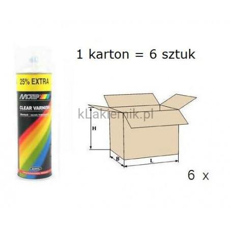 Lakier bezbarwny MOTIP - spray 500 ml x 6