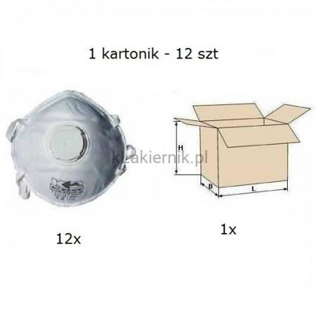 Maska przeciwpyłowa filtrująca K2 jednorazowa z zaworkiem - 12