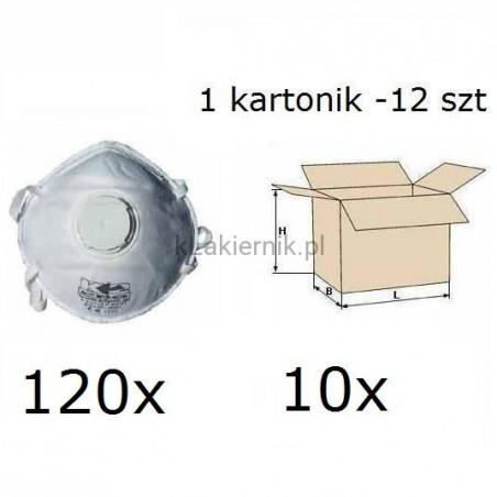 Maska przeciwpyłowa filtrująca K2 jednorazowa z zaworkiem - 120