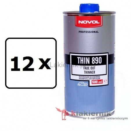 Rozcieńczalnik do cieniowania NOVOL 32151 THIN 890 - 12 x 0,5 L