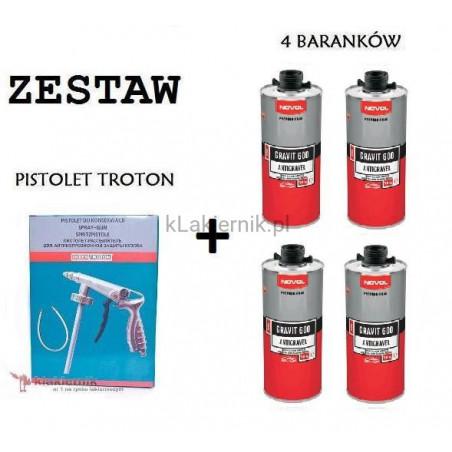 Zestaw TROTON: Pistolet do konserwacji + Baranek GRAVIT 600 1 L