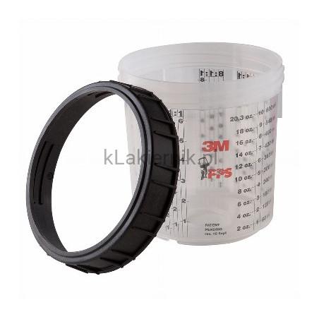 Kubek PPS 3M 16001 zewnętrzny/twardy, pierścień zamykający -